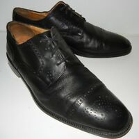 Johnston & Murphy Men's Oxford Black Soft Leather Cap Toe Lace Up Shoe Size 10 M