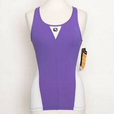NWT Giordana Italy Silverline Purple White Cycling Form Fitting Tank Top Size S