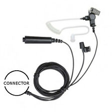 3-Wire Acoustic Tube Earpiece Palm PTT / Mic for Vertex Standard VX eVerge EVX