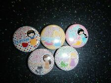 "5 Rapunzel Snow White Disney Princess Party Deco 1"" Pinback Button Pin Badge"