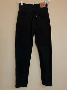 Levi's High Waist 512 Black Slim Tapered 8 M