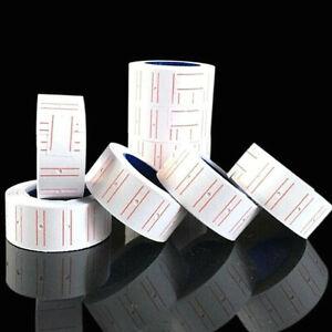 30 Rotoli Etichette prezzi adesive 21x12 mm per PREZZATRICI  TOTALE 30000 PREZZI