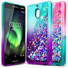 For Nokia 2 V / Nokia 2.1 Liquid Glitter Case Waterfall Bling TPU Phone Cover