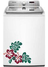Hibiscus Decal Sticker flower Dishwasher Refrigerator Washing Machine Stove Dorm