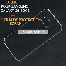 Housse pochette coque cristal rigide transparent samsung galaxy S6 EDGE + Film