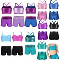Mermaid Leotards Dance Sport Outfits Dancewear Ballet Gym Workout for Kids Girls