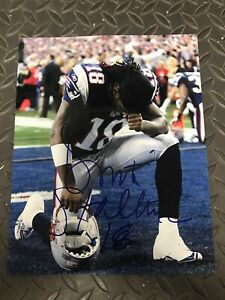 DONTE STALLWORTH SIGNED NEW ENGLAND PATRIOTS NFL PHOTO AUTOGRAPHED COA TENNESSEE