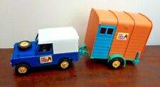 Vintage 1970's Britains Land Rover & Horsebox Pine Lodge Stables 1:32 Scale