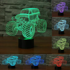 Truck 3D Lamp Traffic LED Night Light Touch Table Child birthday Gifts 7 Color