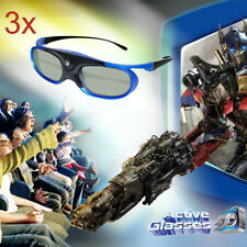 3X USB Recharge Active Shutter 3D Glasses for 3D Projector BenQ Optoma Acer DELL