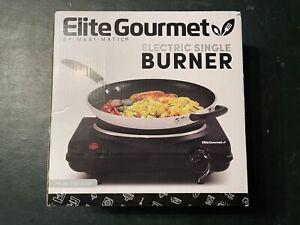 "Elite Gourmet - Electric Single 7"" Flat Burner Hot Plate: ESB-301BF"