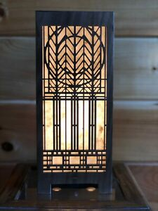 Lightbox Accent Lamp Solid Black Walnut (Design # 1)