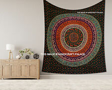 Indian Tapestry Bohemian Decor Hippie Green Bedcover Floral Mandala Wall Hanging