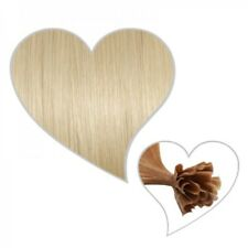 25 Extensions BIONDO PLATINO #60, 75 cm capelli umani Remy, platinblonde meches