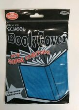 It's Academic Stretchable Fabric Book Cover ( Pack of 3 ) Solid Color - Blue
