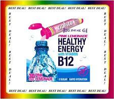 ZipFizz Pink Lemonade Flavor Healthy Energy Drink Mix w/ Vitamin B12 (30 Tubes)