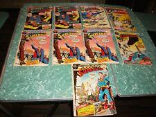 1972-72 SUPERMAN 248 249 250 250 250 251 252 253 253 DC Comic 9 LOT