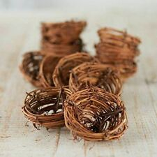 12 Natural Twig Birds Nest for Favors and Decor