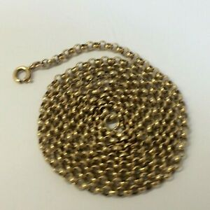9 CT YELLOW GOLD VINTAGE HEAVY 30.INCHES LONG BELCHER NECK CHAIN, 17.20.GRAMS