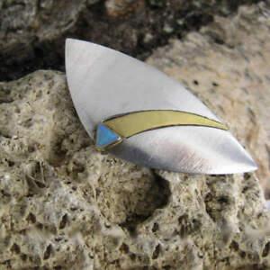 Modern Designer Brooch With Natural Solid Opals Unique