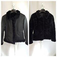 Women Reversible Faux Fur Short Jacket Bolero Coat Waterproof  Polyurethane SZ S