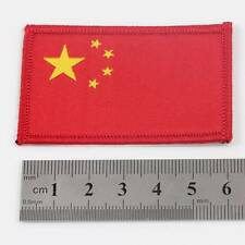 FLAG CHINA IRON ON 6.5cm x 4cm EMBROIDERED CHINESE NATIONAL  PATCH BADGE 078