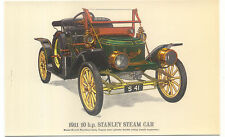 Stanley Steam Car 1911 MODERN postcard issued by Collectors Reproductions