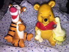 Disney Winnie The Pooh & Tigger - 2 Figurine Ornaments - Japan VGC