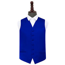 DQT Satin Plain Solid Formal Tuxedo Wedding Mens Waistcoat S to 5XL FREE Hanky