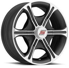 "Sendel T05 Black Machined Aluminum Trailer Wheel 16"" 8x6.5 8 Lug Free Shipping"