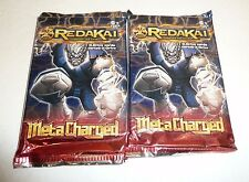 Lot of 2 Redakai MetaCharged Booster Card Packs Conquer the Kairu X-Drive Cards