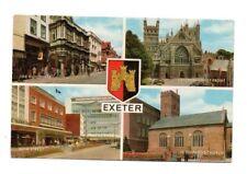 Devon - Exeter - Multiview Postcard Franked 1974