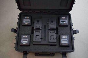4 Anton Bauer CINE 90 V-Mount Ion Battery, Quadt Charger plus Case