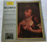 BEETHOVEN LP SONATE 33 GIRI VINYL ITALY 1969 JOKER SM 1015 VG+/G
