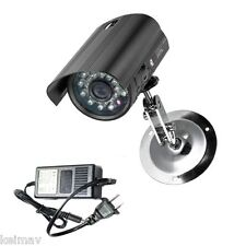 YS633 CCTV Bullet Type Camera with 2A Power Adapter