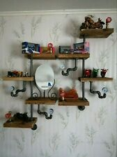 Industrial Steampunk rustic retro Shelf With Gauges And Gate valves