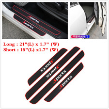 Parts Accessories 4pcs Rubber Car Door Sill Scuff Plate Sticker Protector Trim Fits 1999 Jeep Wrangler