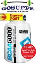 EVL Evlution Nutrition BCAA 5000 240 Capsules 30 Servings PURE Lean Muscle