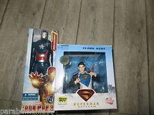 Lot Superman&Iron man3,patriot(rare) 28 cm