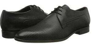 Hugo Boss men's Appeal derby black shoes - Embossed, 100% Leather, running small