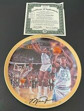 Bradford Exchange Upper Deck Michael Jordan NCAA Championship Collectible Plate