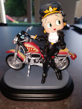 Extremely Rare! Betty Boop Leaning Against Motorcycle Figurine Statue