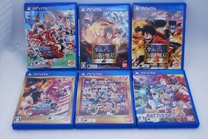 PS VITA One Piece Musou Unlimited Burning Blood Dragonball Z J-Stars 6Game Japan