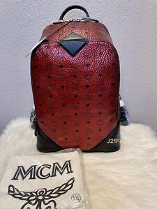 NEW MCM Metallic Visetos Backpack