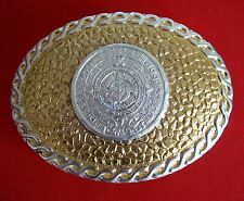 Aztec Calendar  Belt Buckle by Crumrine Made in USA