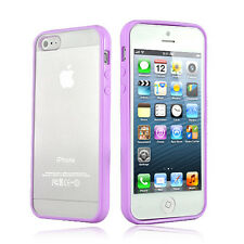 PURPLE Top Grade Hard MATTE PC & Soft GEL Cases Cover  For Apple iPhone 5 5S