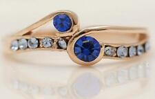 New 9K Yellow Gold Filled Sapphire Crystal Womens Ring Size 7.5 US P Aus / UK