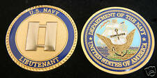 US NAVY LIEUTENANT 0-3 LT CHALLENGE COIN USS PROMOTION GIFT PIN UP RANK OFFICER