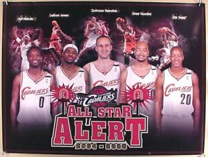2004-05 CLEVELAND CAVALIERS ALL STAR ALERT 24x18 POSTER