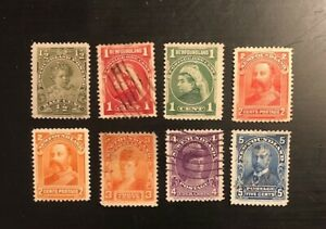 Stamps Canada Newfoundland Sc78 - Sc85 Royal Family complete set-see description